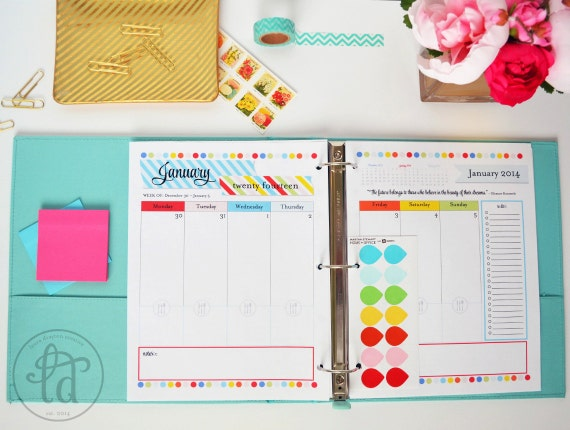 ... Weekly Planner - Meal Planner - Notes - Printable - Instant Download