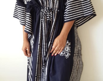 Maxi Dress, Summer Fashion, Batik Kaftan, Caftan, Cotton Dress, Beach Cover Up,,  Bridesmaids Gift, Resort Wear, Maternity Dress, Plus Size
