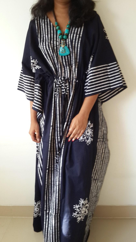 SALE Plus Size Long Dress Baby Shower Caftan by FabFabricsForU