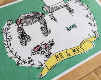 Mr & Mrs - wedding card