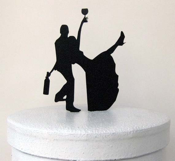 drunk bride wedding cake wedding cake topper 13761