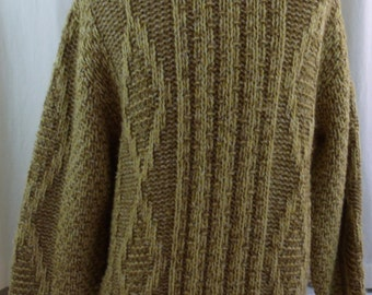 Vintage 70s Preppy Sears And Roebuck Unisex Wool Sweater Size L