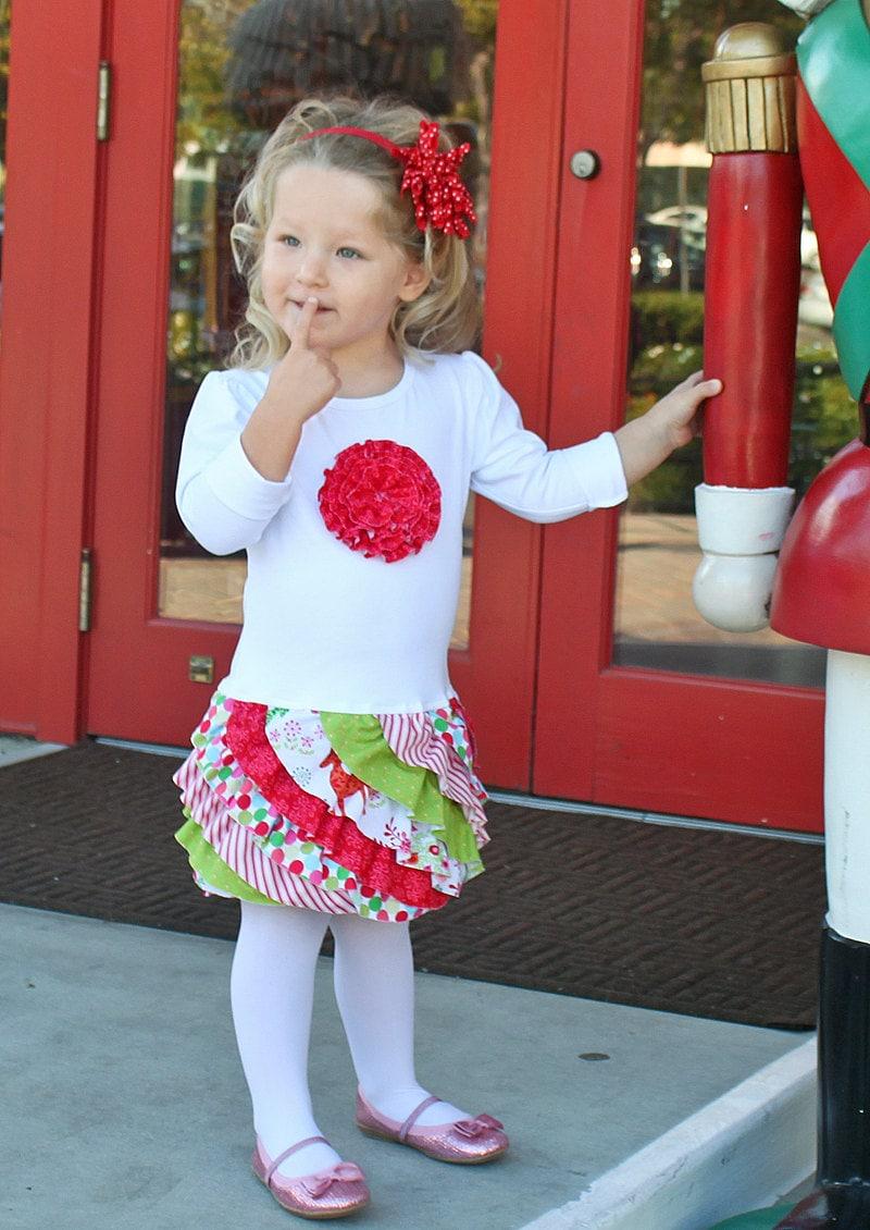 Christmas Dress Ruffles T Shirt Toddler By Mackandlilypatterns