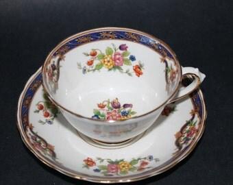 TUSCAN Fine Bone China Teacup and Saucer Set.