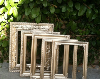 Ornate Gold Picture Frames, Set of 5, 8x10, Ornate Picture Frames, Baroque, Wedding, Nursery, Wall Gallery decor  (Los Angeles)