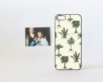 iPhone 5 Case with Palm Tree Pattern  - Tree iPhone 4 Case - iPhone 5/5s Case - iPhone 4/4s Case - Vintage Print iPhone Case 5s -