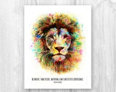 INSTANT DOWNLOAD. Be brave. Take risks. Nothing can substitute experience. Colorful motivational graphic art. Wall decor.