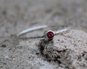 January Birthstone Stacking Ring in sterling silver, Garnet Ring