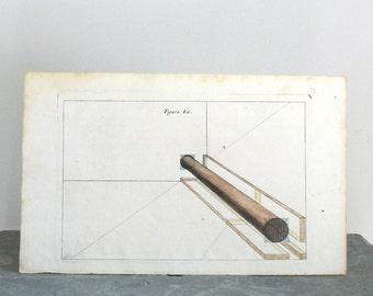 Rare Architectural Engraving Andrea Pozzo c. 1708 12 1/2 x 7 3/4 inches