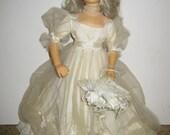 """Vintage Effanbee 17"""" bride doll Mae West 1982"""