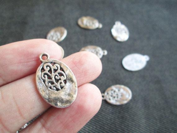 Basket Weaving Supplies Connecticut : Piece antique silver angel oval tibetan style charm