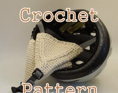 PDF Crochet Pattern - Textured Bicycle Helmet Ear Warmers - Instant Download