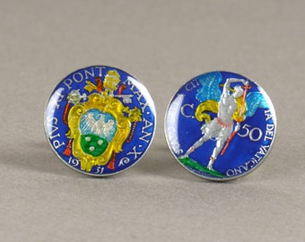 Cufflinks Vatican Coin