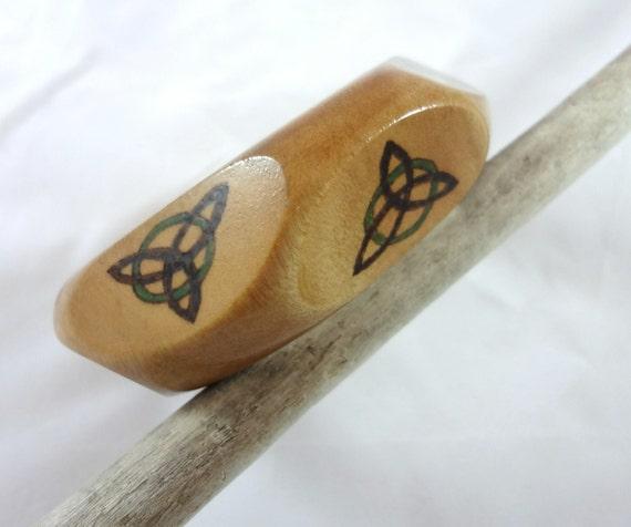 Hand Made Wood Burned Celtic Knot Bracelet