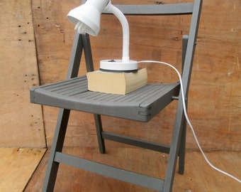wooden dark grey folding deck chair/bedside table, mix & match kitchen and dining chairs. (contact us for delivery quote)