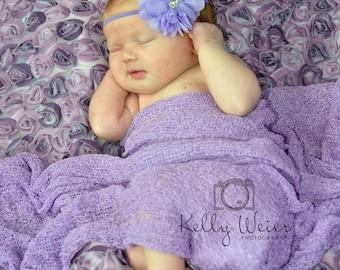 Lavender Headband..Newborn Headband..Baby Girl Headband..Baby Headband..Headband..Toddler Headband..Infant Headband..Baby..Baby Girl