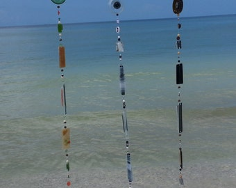 """Beer Cap Wind Chime """"Bottoms Up"""""""