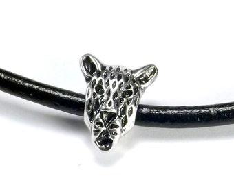 European Bead: Cheetah Charm, 16mm with 4.5 mm hole, Jaguar Bead, European Cheetah Bead, EUR015