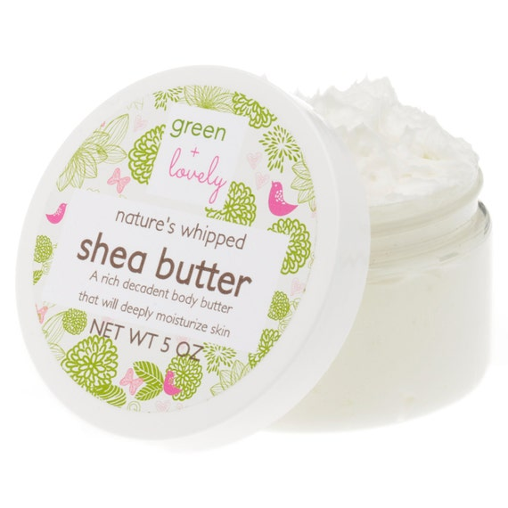 Whipped Organic Shea & Mango Butter made with organic oils. Vegan. {edible}, 4 oz - choose from 22 scent choices!