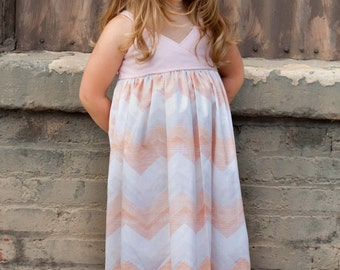 Custom Girls Maxi Dress- Girls Maxi Dress- Maxi Dress- Boutique Maxi- Custom Maxi Dress- Size 6mo-5yr- The Dottedduck