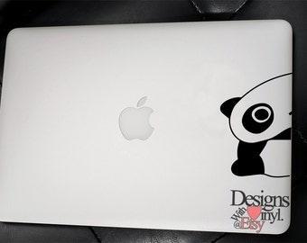 Tarepanda, Half, Peeking - Laptop, Car, Graphics, Die Cut Vinyl, Decal, Window, Sticker, A3