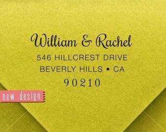 CUSTOM address STAMP from USA, pre inked stamp, Wedding Stamp, rsvp stamp, return address stamp with proof - Custom Address Stamp b5-71