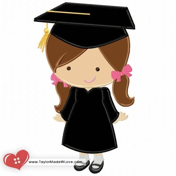 Graduation Girl Applique Digital Design File Grad Party