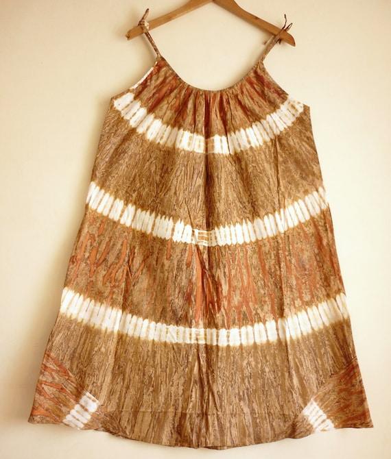 Tie & dye dress Summer dress beach cover up Indian dress