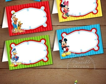 BLANK FOOD TENTS Mickey Mouse Clubhouse Food Tents Mickey Mouse Clubhouse Place Cards  sc 1 st  Etsy : mickey tent - memphite.com
