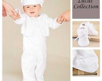 Save 10% on our 3-Piece Lucas Christening Baptism or Blessing Outfit Collection for Boys