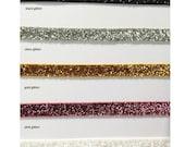 Elastic Headband With Loop - Velvet, Fold Over, or Glitter Elastic