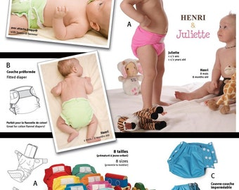 Jalie Cloth Diapers & Diaper Cover Sewing Pattern #2907 Sizes Preemie - 2T