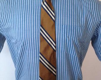 Vintage MENS Richard Bennett Imperial English Rep diagonal striped silk tie
