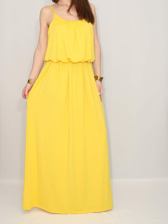 Party dress Yellow Dress Maxi Dress Summer Bridesmaid dress