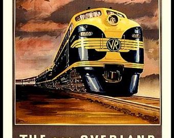 Australia Train Travel Poster - Print