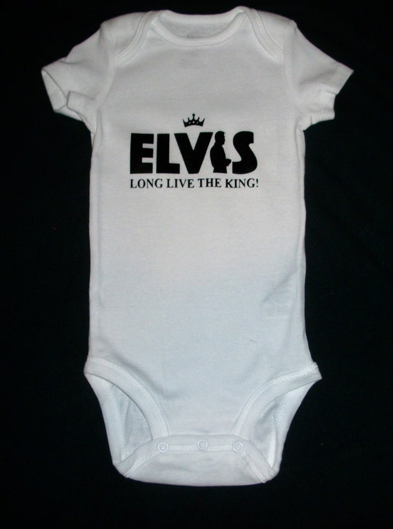 Elvis Long Live the King Onesie One piece baby clothing