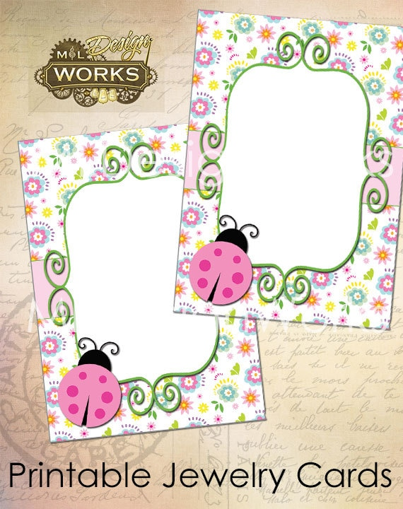 Juicy image within printable jewelry tags