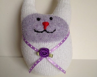 Bunny Sock Toy - Violet Bows