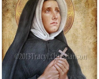 St. Madeleine Sophie Barat  Art Print, Catholic Patron Saint #4127