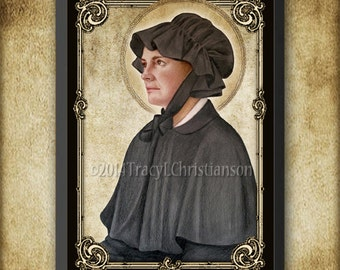 St. Elizabeth Ann Seton Boxed Plaque & Holy Card GIFT SET, Catholic Saint #1079