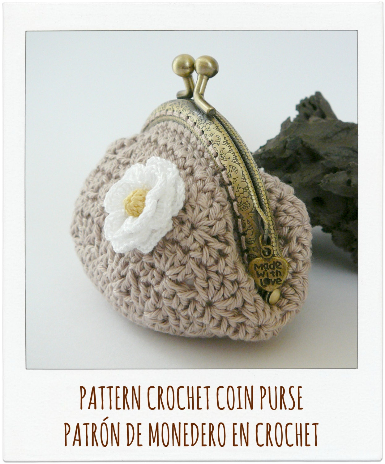 Coin Purse Crochet : PATTERN Crochet Coin Purse Model n? 5 by PitusasyPetetes on Etsy