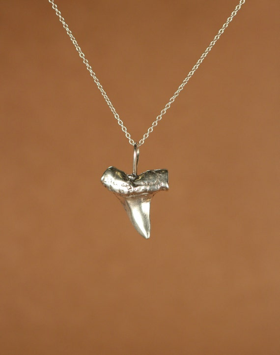shark tooth necklace silver shark tooth necklace a solid