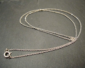 """18"""" Sterling Silver Cable Chain Necklace"""