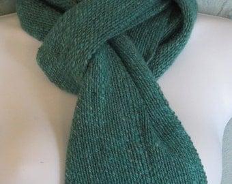 Paraiba II - Hand woven wool, mohair, and silk blend scarf
