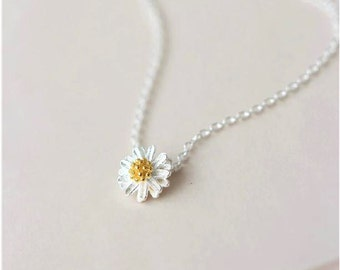 925 Sterling Silver Daisy Necklace 16''  17''  668
