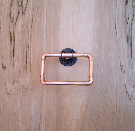 Industrial Towel Ring Copper Pipe Hand Towel Loop By