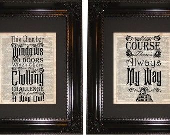 Haunted Mansion Quote , Dictionary Art Print, Vintage Dictionary, Silhouette, Disney quotes, Wall Decor, Wall Hanging, Art Prints, Cameo