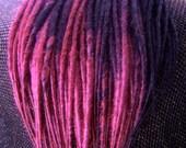 "Custom Synthetic Dreads 4 Colour for Falls / Hair Extensions 14-16"" Medium Dreadlock"