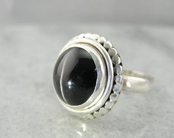 Rare Cat's Eye Sillimanite Gem in Vintage Sterling Silver Band 0CKRAQ-N