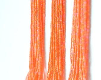 Bridemaid iridescent orange necklace, orange necklace, statement necklace,beaded necklace,seed bead necklace,bridesmaid necklace,summer